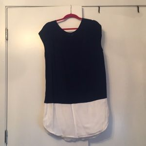 Madewell Navy and White sift dress